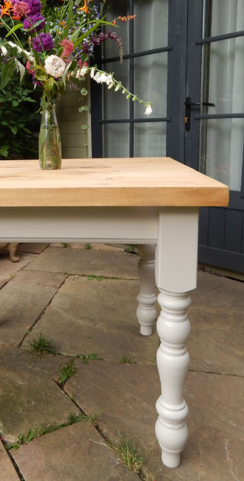 4ft Rustic Farmhouse Table